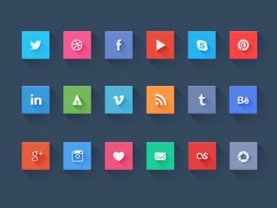 social icons PSD